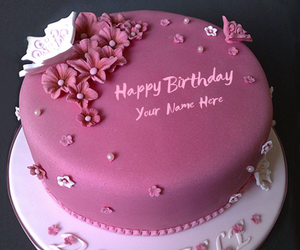 Pink Birthday Cake For Girl And Elegant Image