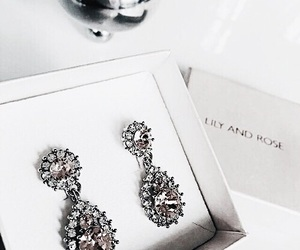 fashion, earrings, and luxury image