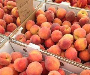 peach, fruit, and orange image