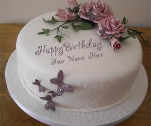 Happy Birthday Cake For Girls And Elegant Image