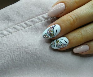 butterflies, nail art, and Nude image