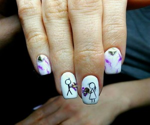 couple, shellac, and heart image