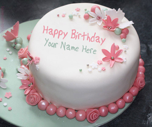 Akash Write Name On Cake And Birthday For Girls Image