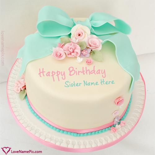 Terrific Cute Birthday Wishes Cake For Sisters Name Generator Funny Birthday Cards Online Elaedamsfinfo