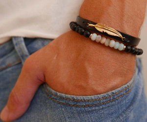 mens jewelry, boyfriend gift, and mens bracelet image