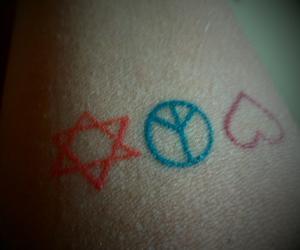 peace, tattoo, and love image