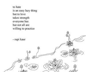 hate, quotes, and love image