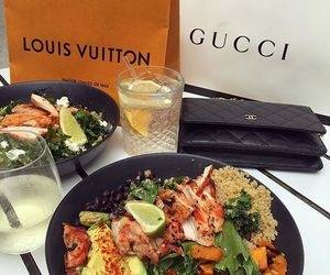 food, gucci, and Louis Vuitton image