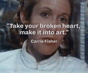 carrie fisher and quote image