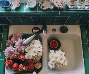 flowers and sink image