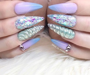 beauty, blue, and glitter image
