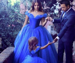 family, blue, and dress image