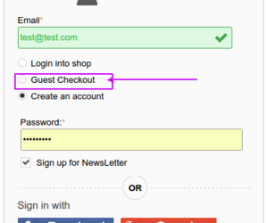 ecommerce and one page checkout image