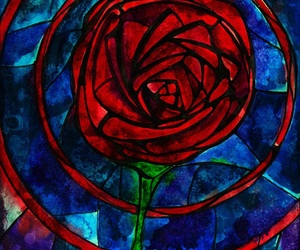 art, beautiful, and beauty and the beast image