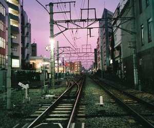 evening, japan, and station image