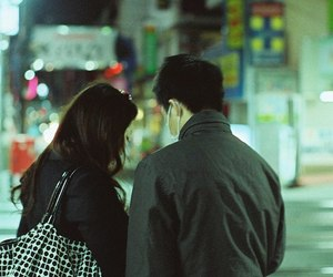 asian couple, asia, and city image