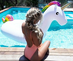 girl, summer, and unicorn image