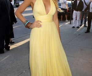 blake lively, dress, and yellow image