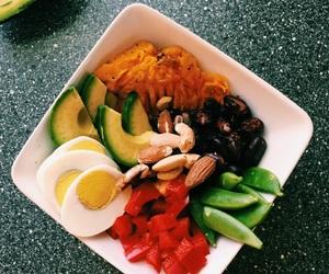 avocado, bowl, and egg image