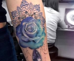 blue, diamond, and girly image