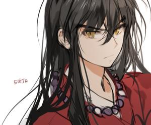 manga, miroku, and inuyasha image