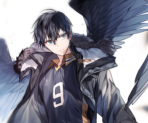 haikyuu, anime, and anime boy image