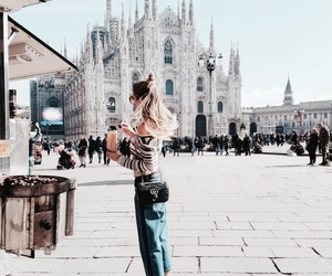 milan, girl, and italy image