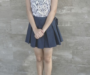 blue jeans, street, and cute skirt image