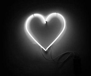 heart, light, and neon image