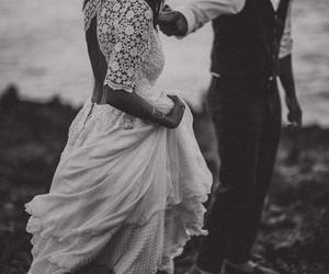 b&w, elegance, and wedding image