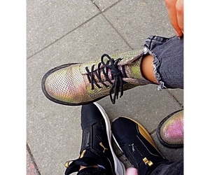 blond and brunette, fierce, and drmartens image