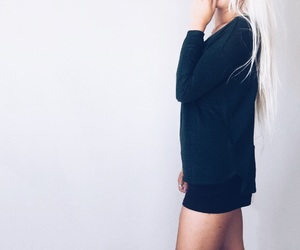 blonde, dark, and day image