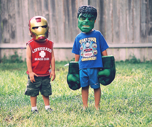 Hulk, iron man, and kids image