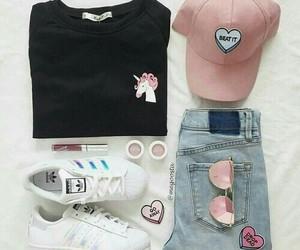 fashion, unicorn, and adidas image