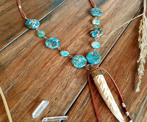 beaded necklace, handmade jewelry, and pendant necklace image