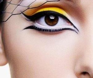 beauty, eye makeup, and eyeliner image