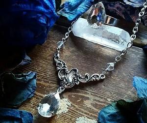 diamonds, blue+rose, and necklece diamonds image