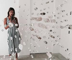art, girl, and mirror image