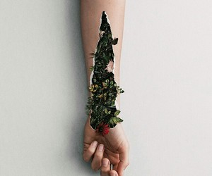flowers, art, and hand image