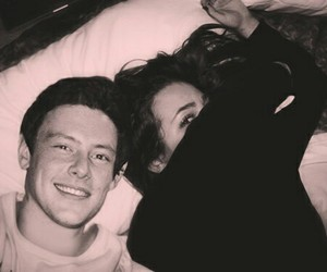 glee, cory monteith, and monchele image