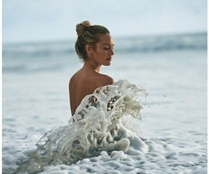 model, candice swanepoel, and sea image