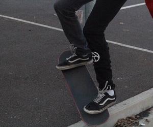 dark, grunge, and skate image