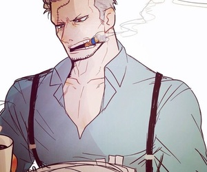 anime, one piece, and smoker image