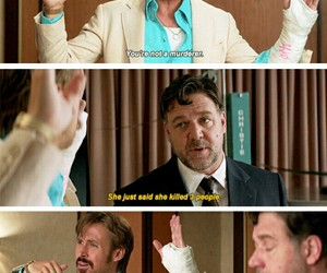 funny, movie, and Russel Crowe image