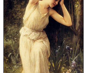 forest, hair, and woman image
