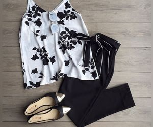 ballet flats, belt, and camisole image