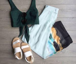 boho, pants, and trousers image