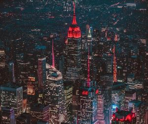 city, colourful, and lights image