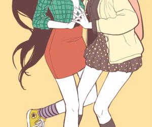anime, anime girl, and background image