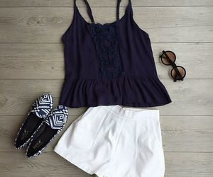 camisole, crochet, and flats image